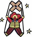 Clown Marionette Stock Photography
