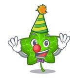 Clown mascot cartoon beautiful ivy leaf plant. Vector illustration vector illustration