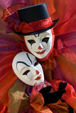 Clown with mask Royalty Free Stock Photo