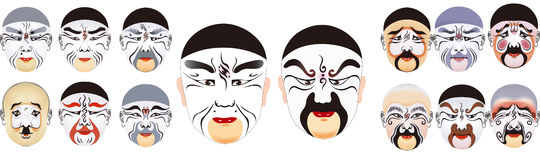 The clown mask of Chinese drama Royalty Free Stock Photography