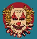 Clown mauvais illustration libre de droits