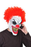Clown mauvais Photographie stock