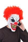 Clown mauvais Photographie stock
