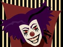 Clown mauvais Illustration de Vecteur