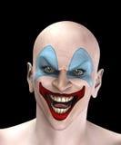 Clown mauvais de Veille de la toussaint Images libres de droits