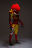 Clown mauvais grand Images stock
