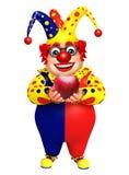 Clown med Apple Royaltyfri Fotografi