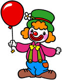 Clown med ballongen Royaltyfri Foto