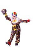 Clown med blommor Arkivfoto