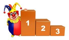 Clown med nivå 123 stock illustrationer
