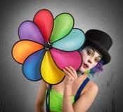 Clown med spiralen Royaltyfria Foton