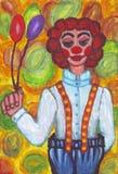 Clown med stora flåsanden Royaltyfri Bild