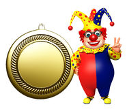 Clown with Medal sign Royalty Free Stock Photo