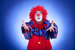 Clown men on blue background Stock Photography