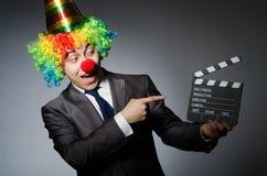 Clown met Stock Afbeelding