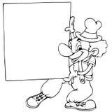 Clown met banner stock illustratie