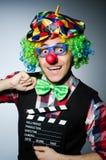 Clown met de film Royalty-vrije Stock Afbeelding