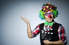 Clown met de film Stock Fotografie