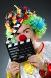 Clown met de film Stock Foto's