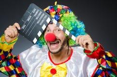 Clown met film Stock Afbeelding