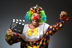 Clown met film Stock Fotografie