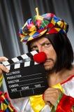 Clown met film Stock Foto