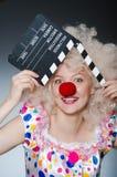 Clown met film Royalty-vrije Stock Afbeelding