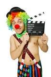 Clown met filmraad Stock Afbeelding