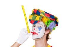 Clown met fluitje Stock Foto's