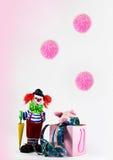 Clown met gelukkig varken Royalty-vrije Stock Fotografie