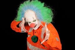 Clown met groen haar stock foto