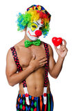 Clown met hart Stock Foto