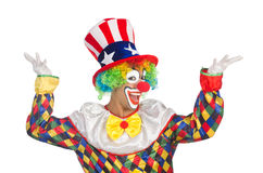 Clown met hoed Stock Afbeeldingen
