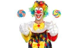 Clown met lollys Stock Afbeeldingen