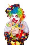 Clown met lollys Royalty-vrije Stock Afbeeldingen
