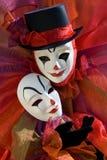 Clown met masker Royalty-vrije Stock Foto