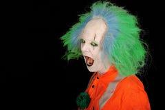 Clown met open mond stock afbeelding
