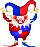 clown met opgeheven wapens Stock Foto's