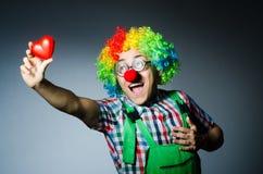 Clown met rood hart Stock Fotografie