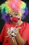 Clown met Suikergoed royalty-vrije stock fotografie