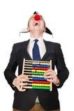 Clown met telraam Stock Afbeeldingen