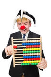 Clown met telraam Stock Fotografie