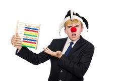 Clown met telraam Royalty-vrije Stock Afbeeldingen