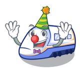 Clown miniature shinkansen train in cartoon shape. Vector illustration vector illustration