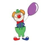 Clown mit Ballon Vektor Abbildung