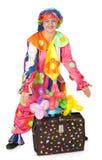Clown mit Carpetbag Stockbild