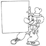 Clown mit Fahne Lizenzfreie Stockbilder