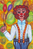 Clown mit großen Hosen Lizenzfreies Stockbild