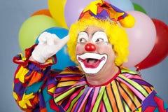 Clown mit heller Idee Stockbilder