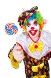 Clown mit Lutschern Stockfotografie